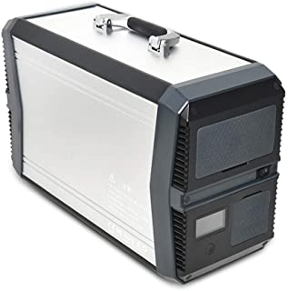 1000W Generador Solar Portátil, 1010Wh Batería de Litio Inversor de Corriente de Respaldo con 2 tomacorriente de 220V CA, 2 CC, 4 USB para emergencias de Camping en el hogar y al Aire Libre,Plata