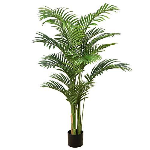 Briful Kunstbaum Palme Kunstpflanze Tropische Kunstpalme Künstliche Pflanzen Groß Zimmerpflanzen Deko für Wohnzimmer Büro Schlafzimmer Haus, 140CM
