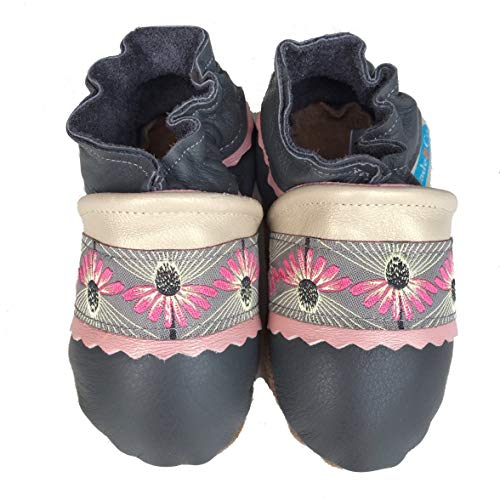 THISTLE Handmade in USA, All-Natural Leather Baby Shoes. … (Medium 6-12 months)