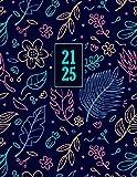 2021-2025: Planificador, Organizador, Diario | Agenda semanal 60 meses | Organiza tu día | Agendas Semana Vista, Calendario Enero 2021 a Diciembre 2025, Formato A4