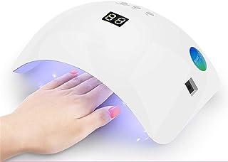 Lámpara de luz LED UV para uñas de gel, secador de uñas acrílicas Secadoras de uñas para gel y esmalte regular, luz de uñas de 48W para uñas de gel Kit de herramientas de manicura profesional
