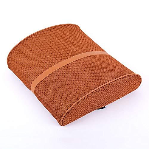 GFBVC Almohada de Respaldo Cojín cómodo Lumbar de Respaldo Cojín de Apoyo para la Espalda Baja para Silla de Oficina en casa Coche (Color : Brown, Size : Free Size)