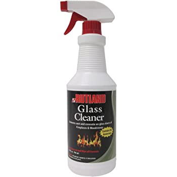 Rutland Products Rutland Fireplace Glass and Hearth Cleaner, 32 Fl Oz (Pack of 1), White