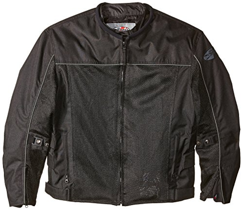 Joe Rocket Velocity Men's Mesh Riding Jacket (Black, X-Large)