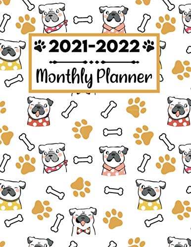 2021-2022 Monthly Planner: 2 Year French Bulldog Planner 2021 2022   Calendar Schedule Organizer   24 Months   Plan and schedule your next two years   ... For French Bulldog Lovers And Dog Owners