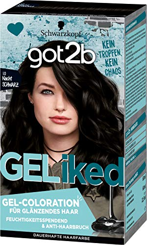 got2b GELiked Gel-Coloration 1.0 Nacht Schwarz Stufe 3, 3er Pack(3 x 143 ml)