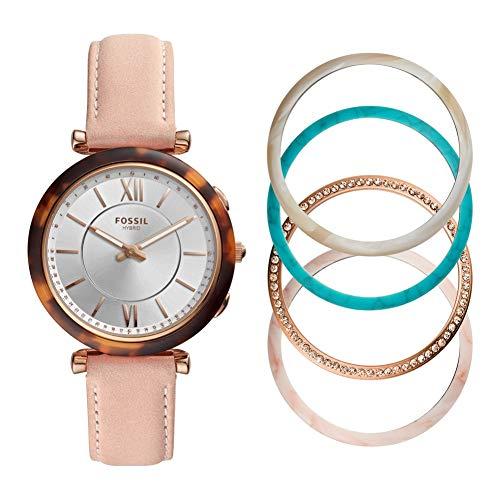 Fossil FTW5042SET Dames carlie smartwatch en bezel cadeauset