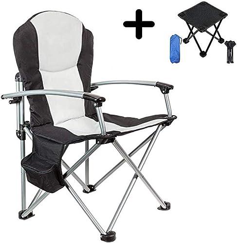 Hxx Chaises de pêche avec Bras Chaise Pliante Portable Extérieur Multi-Pliable Tiroir Tourisme Alpinisme avec Petit Tabouret Camping Pliant