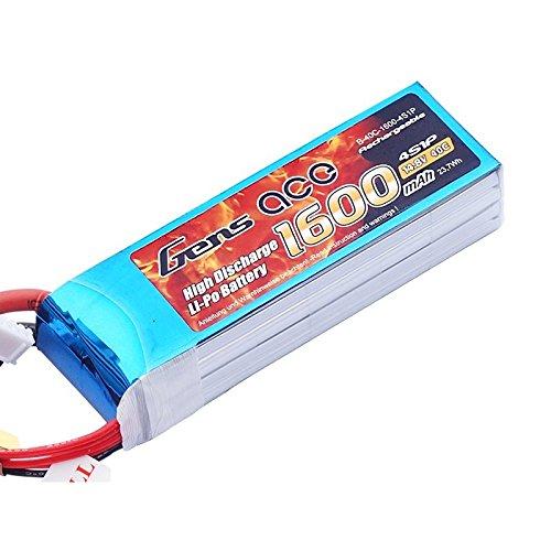 Gène Ace 1600 mAh 14,8 V 40 C 4s1p Lipo Pack Batterie avec Deans T Prise pour modélisme RC Car Heli Bâche Boat Truck FPV Voiture hélicoptère Avion Toys