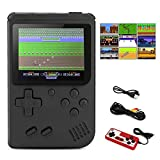 BLANDSTRS Handheld Game Console, Retro Game Player with 520 Classic FC Games 3.0 inch Screen, 800mAh Rechargeable Battery Portable Games Controller Support for 2 Players & TV for Kids & Adult (Black)