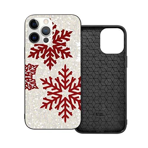 Navidad espumoso rojo copos de nieve tema Anti-caída moda teléfono caso para i-phone 12