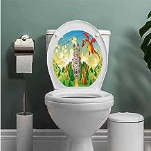 ThinkingPower Boys Room Bathroom Wall Stickers Toilet Home Decoration Medieval Castle Dragon Bathroom Decal W13XL16 INCH
