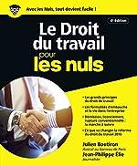 Le Droit du travail pour les Nuls, grand format, 4e édition de Julien BOUTIRON