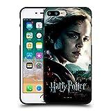 Head Case Designs Licenciado Oficialmente Harry Potter Hermione Granger Deathly Hallows VIII Funda de Gel Negro Compatible con Apple iPhone 7 Plus/iPhone 8 Plus