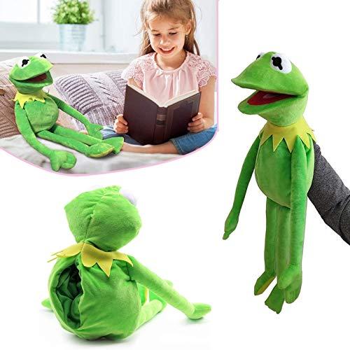 ZURITI Juguete de Peluche de Marionetas de Rana, Marioneta de Mano de Rana, Muñeco de Peluche The Frog Cartoon Muppets Show, Los Muppets Peluche de Peluche Suave Verde 1pc frog-40cm