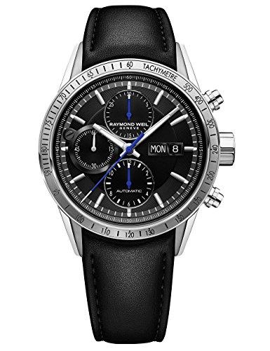 Raymond Weil orologio da uomo, colore: Nero (modello: 'Freelancer' Swiss...