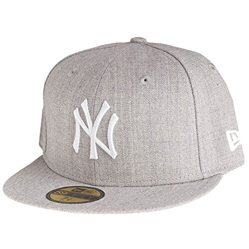 New Era Cap Mlb Basic Neyyan, Heather Grey/White, 7 5/8