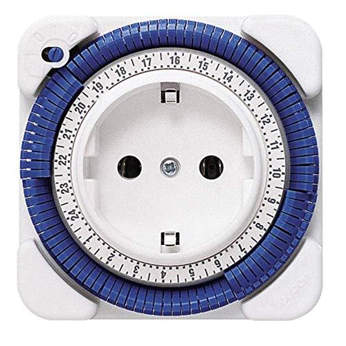 Theben 0260030 theben-timer 26 - analoge Zeitschaltuhr, Steckdosen-Schaltuhr, Zeitprogrammstecker, weiß (1), bis zu 400 W LED Schaltleistung