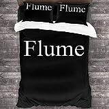 LZMM Hojas Flume 3-Piece Bedding Set Soft Lightweight Quilt 86 X 70 in Women Man Pillowcases Home One Size