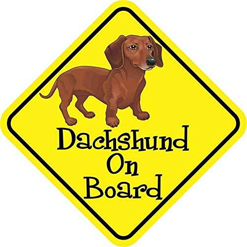 Carro de salchicha para perro, adhesivo personalizado para coche, motocicleta, resistente al agua, rasguños, PVC, modelado para coche, 12 cm x 12 cm (tamaño: 24 cm x 24 cm)