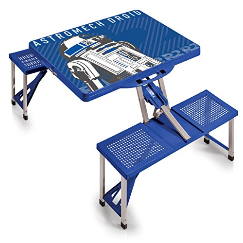 Lucas/Star Wars R2-D2 Portable Folding Picnic Table with Seating for 4, Blue