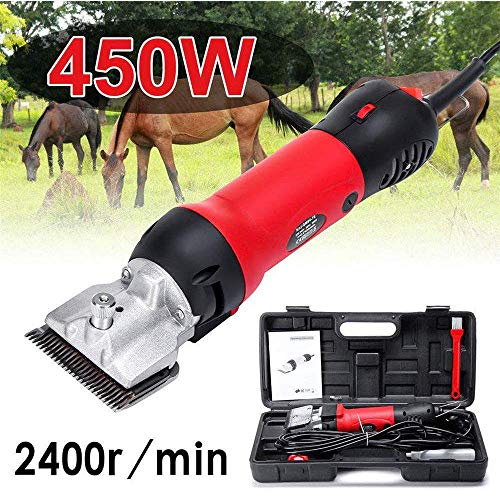 GRX-ADRE Scheermachine voor paarden professioneel, grootdierenschermachine, 450 W regelbaar dierenhaartrimmer paarden verzorging accessoires, voor dieren