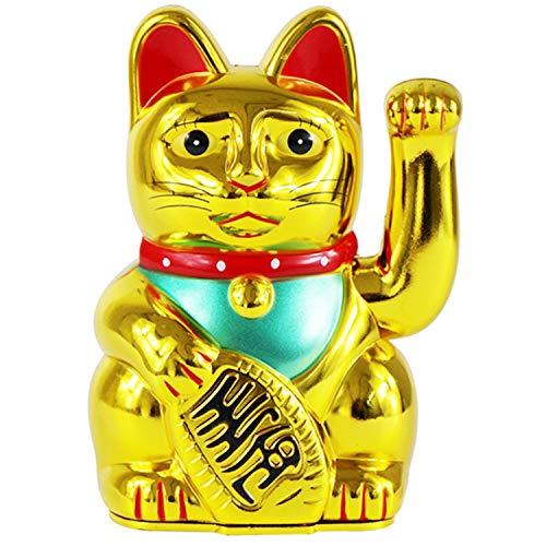 Chat Chanceux De La Fortune Maneki Neko Solaire Anim/é Mignon Chat Agitant Bonne Fortune Richesse Accueillant des Chats Feng Shui Home Display Car Decor Chat Agitant Blanc