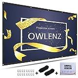 OWLENZ 4K HD 120Inch 16:9 Portable Projector Screen Multi-Function...