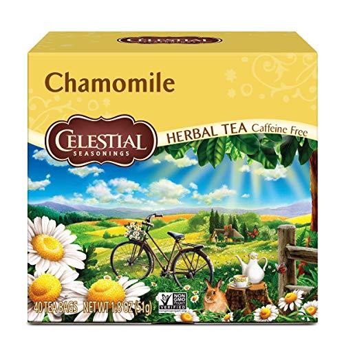 Celestial Seasonings Herbal Tea, Chamomile, Caffeine Free, 40 Tea Bags (Pack of 6)