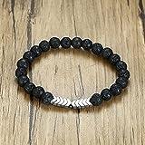 ShSnnwrl Stile Classico Braccialetto Braccialetti Diffusori di Olio Essenziale di Perle di Pietra per Le Donne Healing Balance Yo