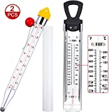 2 Pieces Stainless Steel Candy Syrup Jam Jelly Deep Fry Thermometer Classic Kitchen