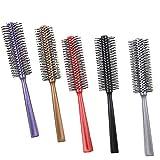 TOOGOO 5 Colores Nuevo Peine de Pelo Redondo Cepillos de Pelo Rizado Cepillo de Pelo Rizado Rodillo de Masaje Peine de PeluqueríA Herramientas de Peinado