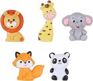 Toyvian 5 Stücke Geburtstag Kuchen Topper Fuchs Elefant Panda Figur Tier Dekofigur Tierfiguren Tortenfigur für Miniatur Garten Deko Micro Landschaft Dekoration Dschungel Party Deko