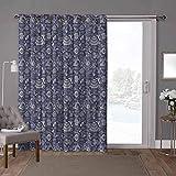 YUAZHOQI cortinas aisladas para puerta corrediza, subacuática, temática monocroma, 100 x 108 pulgadas de ancho persianas verticales para puerta de honda (1 panel)