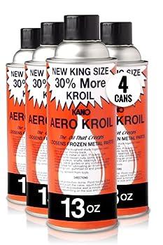 Kroil Penetrating Oil  Aerokroil  13 oz Aerosol Pack of 4