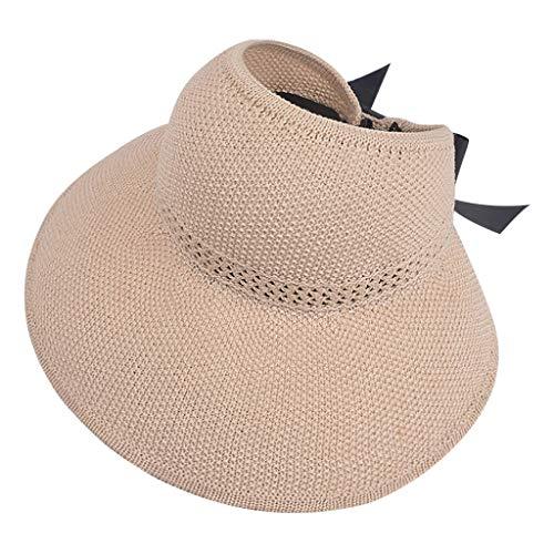 Iunser Damen Damen Sommerhut Floppy Beach Sonnencreme Radfahren Verstellbare Kappe Strohhut(Beige) Sonnenhut Kinder mädchen Strohhut für mädchen