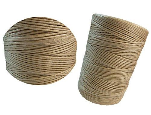 Perlin WACHSBAND 1,5mm BEIGE Sand SATTLERGARN GEFLOCHTET 100% Polyester FORELLENFADEN C312