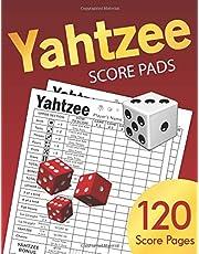Yahtzee Score Pads: Large size 8.5 x 11 inches 120 Pages Dice Board Game YAHTZEE SCORE SHEETS Yatzee Score Cards Yahtzee score book Vol.4