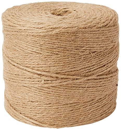 Rayher 4200331 Cuerda yute color natural, 3 cabos, 3.5 mm diámetro, 280 m. Cordel yute resistente