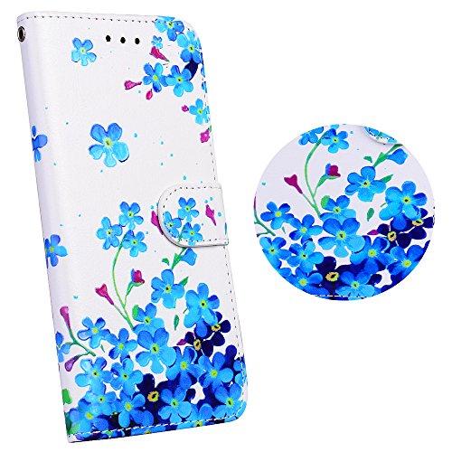 Coque Huawei P8 lite (5 Zoll) Protection Étui Housse, Anlike Wallet Cover / Protector Coquille / Stand et les fentes de carte de crédit - Orchidée