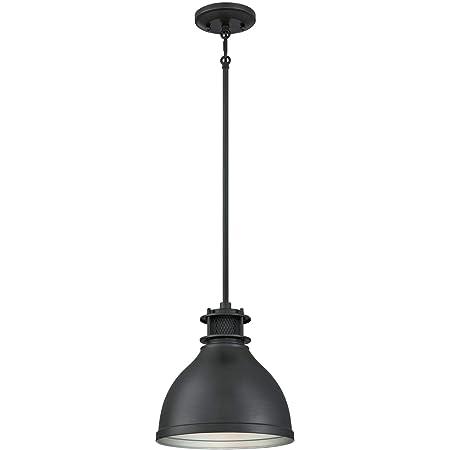 Temara - Lampadario pendente da interni ad una luce, con finiture in lega di bronzo spazzolato opaco con dettagli in rete, 6111040ATE