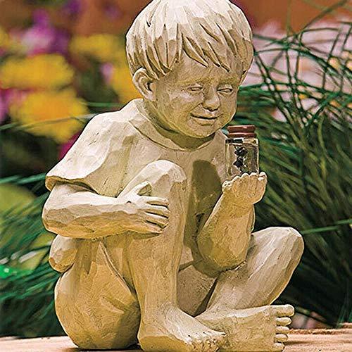 Mrs. Li's shop Estatua decorativa para jardín, diseño de luciérnaga iluminada con...