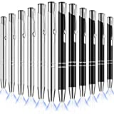 10 Pieces Lighted Tip Pen Ballpoint Flashlight LED Pens LED Penlight Light Up Pen for Writing in the Dark Nurses Pen with Light (Black and Silver)