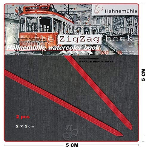 Mini álbum de Akkordeon Hahnemühle Acuarela, formato en zigzag 300 g/m², 18...