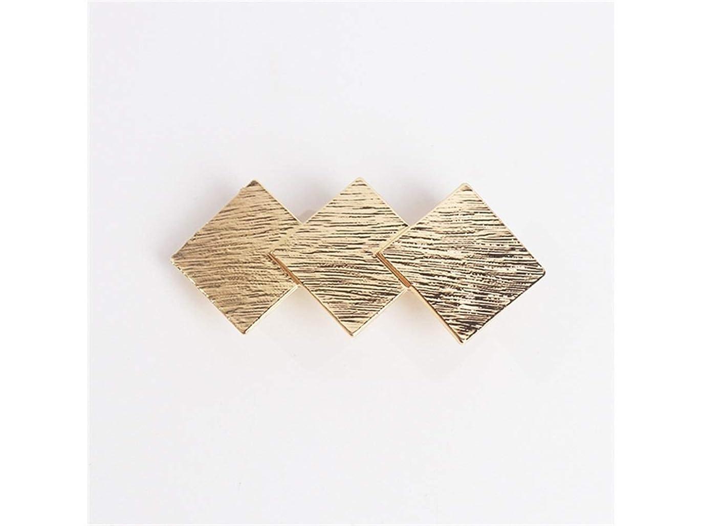 特徴づけるロマンチックポーズOsize 美しいスタイル 合金春単純な幾何学スクエアトップクリップポニーテールヘアクリップクリップ(ゴールデン)