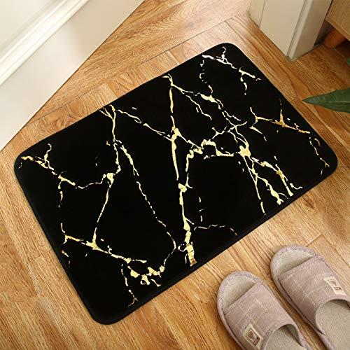 OHHCO Bronzing Kaninchen Samt Teppichboden Matte Zimmer Schlafzimmer Matte Wohnzimmer Matte Badezimmer rutschfeste Matte 40 * 60 cm,C