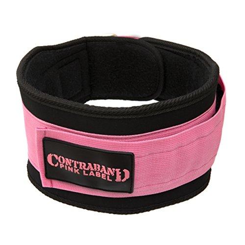 Contraband Pink Label 4047 Damen Gewichthebergürtel, 12,7 cm, mit Schaumstoff gepolstert, Pink, Größe L