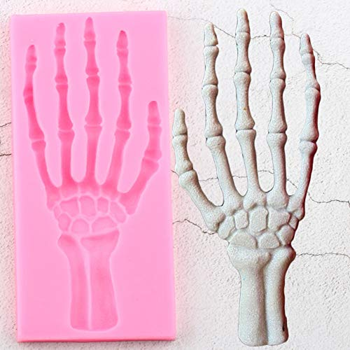 ZPZZPY 3D Halloween Hand Skelett Silikonformen DIY Party Kuchen Dekorieren Fondant Schimmel Kuchen Backen Candy Clay Schokoladen Gumpaste Form