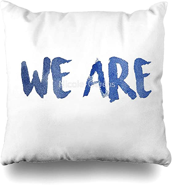 Ahawoso Decorative Throw Pillow Cover Square 16x16 Trendy Quot Turquoise Louisiana Mardi White De Elegant Lumbar Deer Bird We Are Penn State Modern Bead Cushion Case Home Decor Zippered Pillowcase