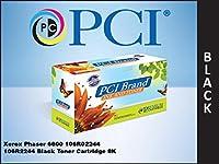 プレミアム互換機106r02244-pci PCI Xerox Phaserブラックトナーカートリッジ8K YIELD FOR 6600、6600N、6600dn